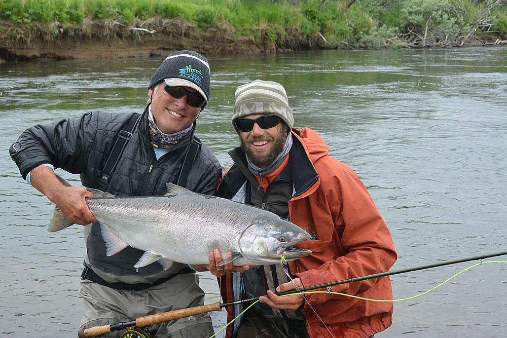 Alaska fly fishing lodge chinook king salmon for Alaska fly fishing