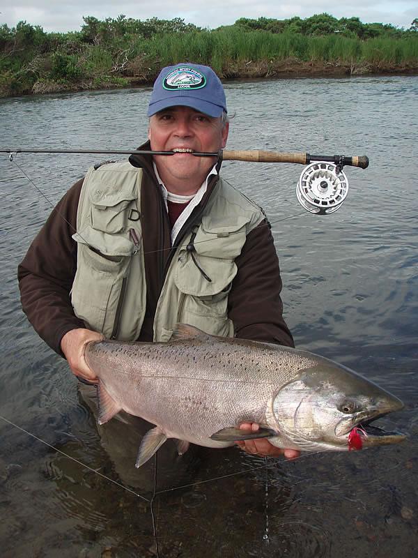 Alaska fly fishing lodge chinook king salmon for King salmon fishing