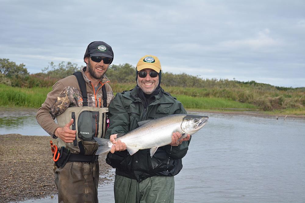 Alaska sport fishing lodge coho salmon fishing for Alaska sport fishing