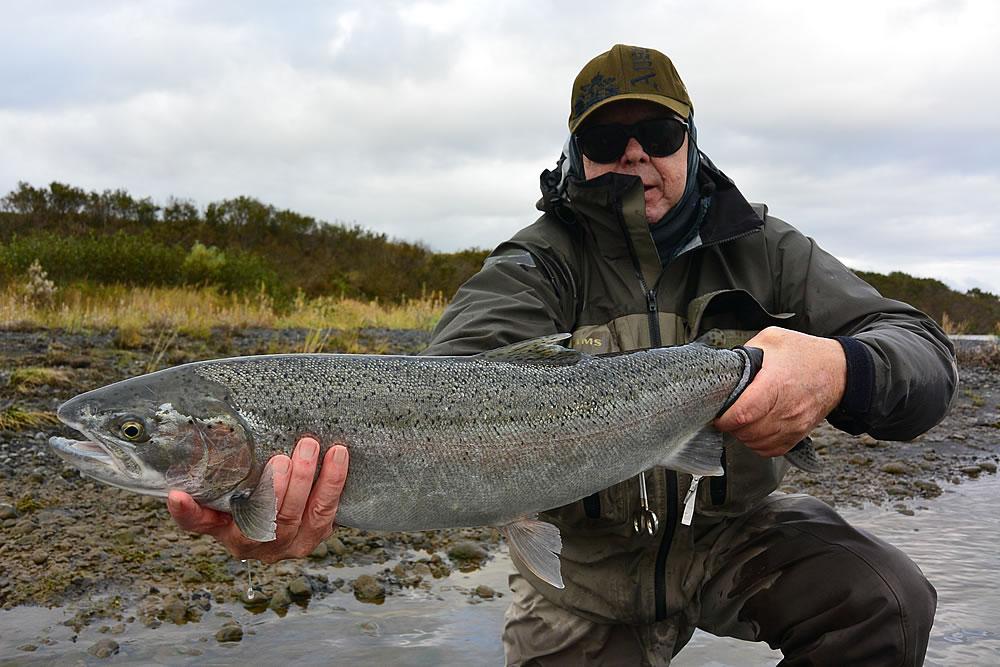 Alaska fly fishing lodge sandy river steelhead trout for Sandy river fishing report
